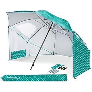 Sport Brella Portable All Weather & Sun Umbrella, 8 foot Canopy, Turquoise