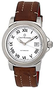 Carl F. Bucherer Patravi AutoDate Automatic Steel Mens Strap Watch White Dial 00.10617.08.21.01