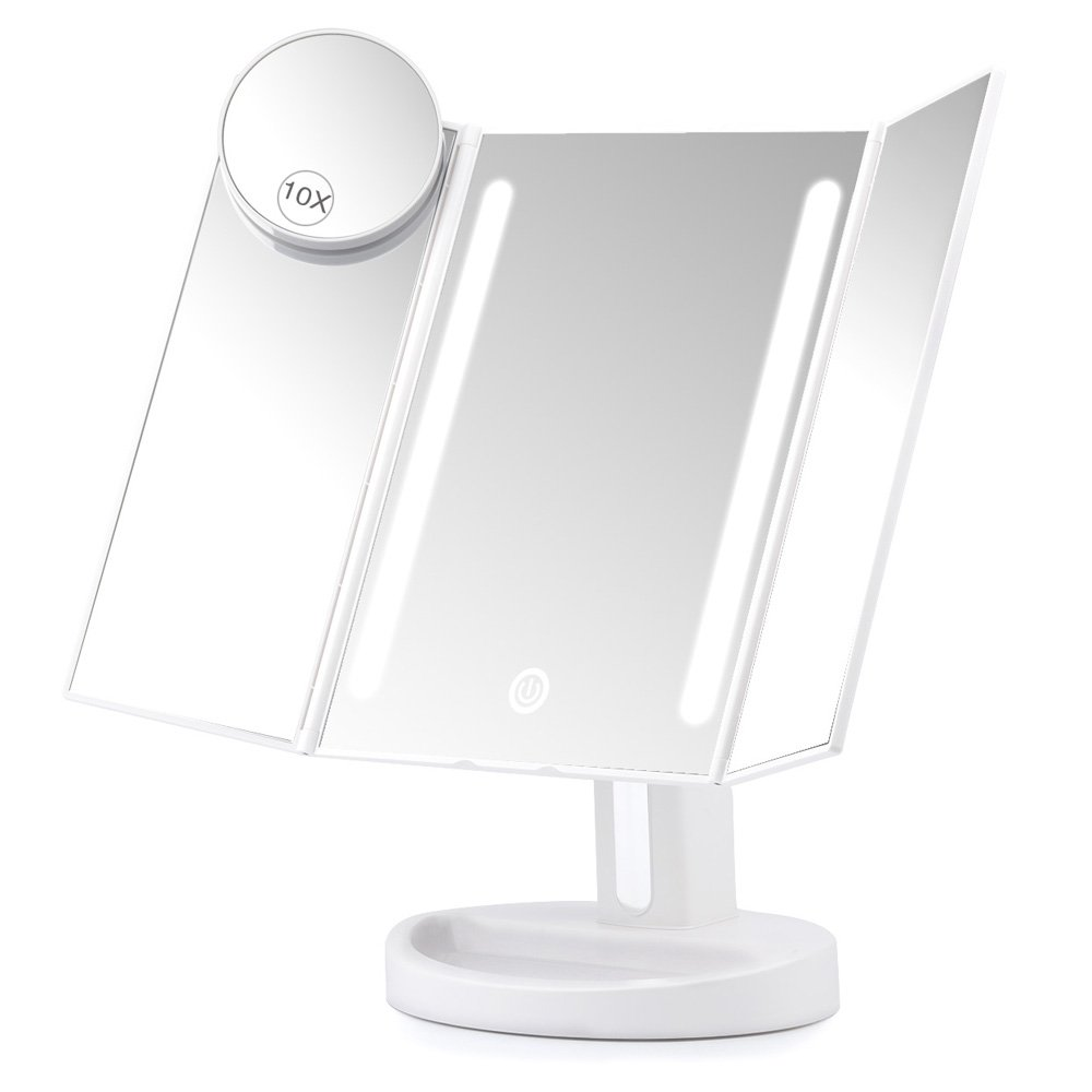 Amazon Com Herwiss Lighted Travel Makeup Mirror 1x Hd 7x