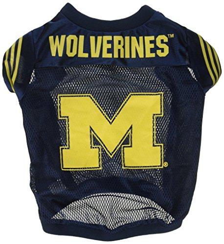 NCAA Michigan Wolverines Football Dog Jersey, Medium Michigan Football Jersey
