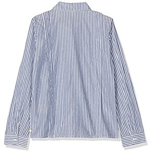 Scotch & Soda Girl's Regular Fit Shirt in Yarn Dyed Lurex Stripe Long Sleeve Top