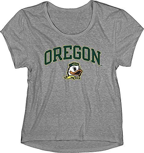 Oregon Ducks Womens TriBlend TShirt Gray - M (Oregon Ladies T-shirt)