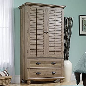 Sauder 415003 Salt Oak Finish Harbor View Armoire