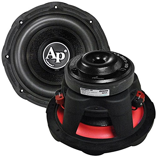 10-inch 800w Max 4 Ohm Car Woofer for Sound System Audio Woofers - Black