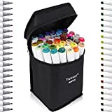 Best Brush Tip Markers - Tanmit Marker Pens Dual Tips Permanent Art Markers Review