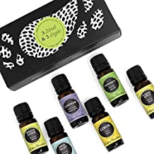 Top 3 Blends & Top 3 Single Oils Set/Kit- 6/10 ml 100% Pure Therapeutic Grade Basic Aromatherapy Sampler Essential Oil Gift Set