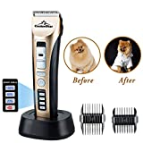 Funkeen Dog Hair Clippers, Pet Electric Trimmer Cordless Animal Hair Cutter Dog Shaver Clippers, Professional Dog Grooming Kit Tools Low Noise Pet Grooming Clippers Shears for Dogs, Cats & Other Pets