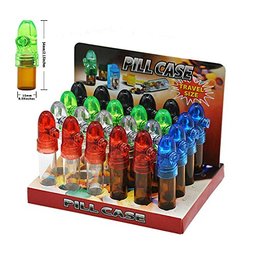 Wholesale Glass Snuff Bullet Rocket Snorter Snuff Dispenser (Small)