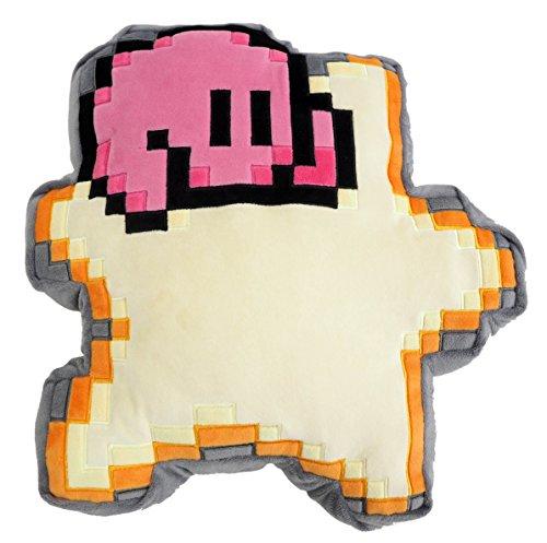 Little Buddy 1637 Kirby 8-Bit Star Cushion Pillow Stuffed Plush, (Links Pillow)