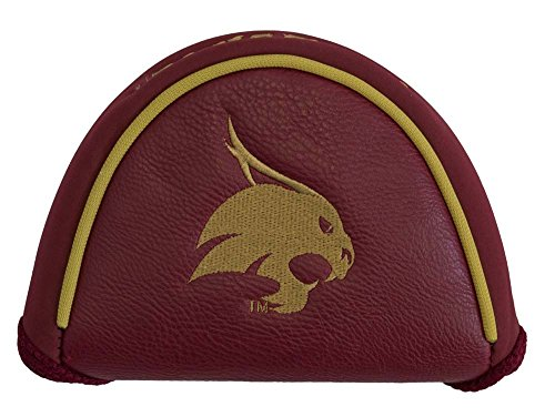 Team Golf NCAA Texas State Bobcats Golf Club Mallet Putter Headcover, Fits Most Mallet Putters, Scotty Cameron, Daddy Long Legs, Taylormade, Odyssey, Titleist, Ping, Callaway