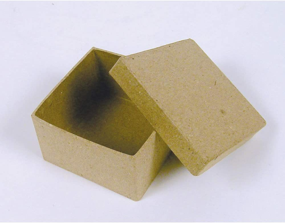 5 x 5 x 3 cm D/écopatch Mache Round Individual Box Brown