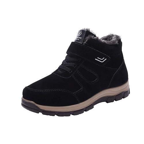Chaussure Hiver Homme Mode Casual Velours Chaud éPaississant Non Glissant  Fond Mou De Grande Taille Bottes ca1ab6d06a15