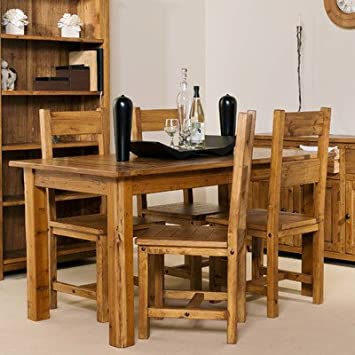 & Denver Dining Table and 4 Chairs: Amazon.co.uk: Kitchen u0026 Home