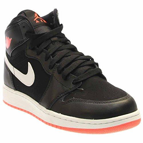 c1a10a561daaf4 Galleon - Nike Jordan Kids Air Jordan 1 Retro High GG Black Hot Lava White  Basketball Shoe 7 Kids US