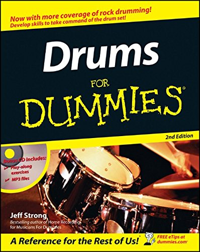 Drums For Dummies, Book and Online Video and Audio Instruction