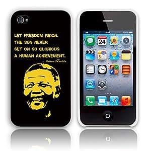 Recordando Discurso del combatiente de la libertad de Nelson Mandela de la libertad Caso duro del diseño para el iPhone 4/4S