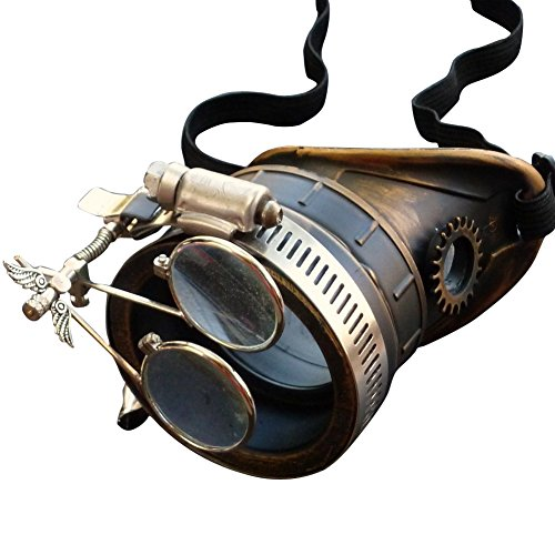 Steampunk Victorian Goggles welding Glasses monocle clear lens left eye - Left Eye Costumes