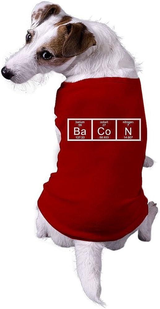 Crazy Dog Tshirts - Dog Chemistry of Bacon Funny Nerdy Scientfic Animal Dog Shirt (Red) - L -