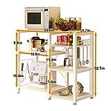Soges 3-Tier Kitchen Baker's Rack Utility Microwave Oven Stand Storage Cart Workstation Shelf W5s-F