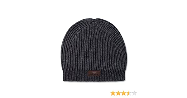 6285480ead3 UGG Men s Slouchy Beanie Charcoal Grey Heather Hat One Size at Amazon Men s  Clothing store
