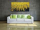 V-inspire art, 24x48 inch Canvas Wall art Yellow