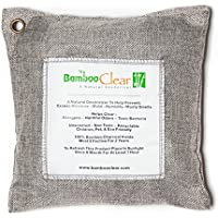 Bamboo Clear - All New Activated Charcoal Air Purifier - Absorb Car Odors, Closet Wardrobe Fresheners - 500 Grams (Silver)