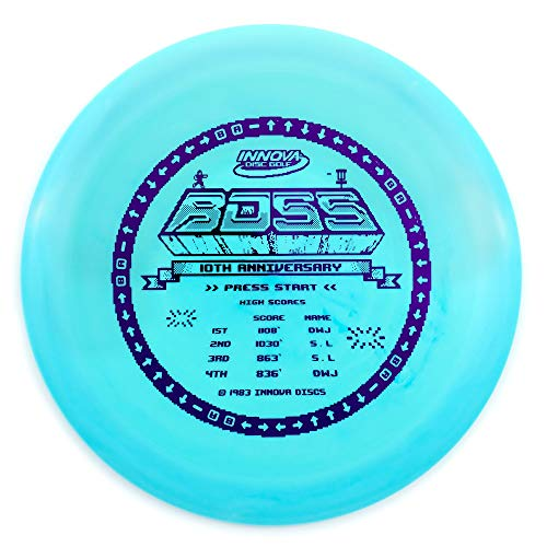 Innova Limited Edition 10th Anniversary Star Boss Distance Driver Golf Disc [Colors May Vary] - -
