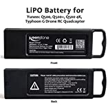 Keenstone Upgrade 3S 6400mAh 11.1V 70Wh Replacement LiPo Battery for Yuneec Typhoon Q500, Q500+, Q500 4K, Typhoon G Drone RC Quadcopter (Q500)