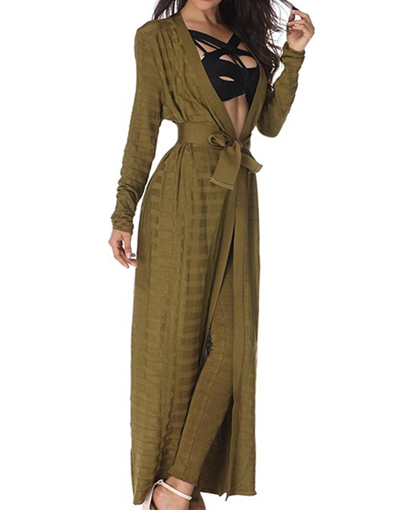 Whoinshop Women's Rayon Bandage Maxi 2 Pieces Sets Pants Leggings and Jackets Green M