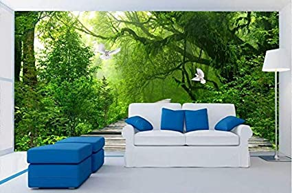 Worryd Papel tapiz de pared Forest Falls Lake Pigeon ...