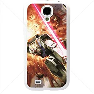 Gundam Manga Anime for Samsung Galaxy S4 SIV I9500 TPU Soft Black or White case (White)
