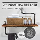 Industrial Bookcase Pipe Shelf Boards Reclaimed Galvanized Steel and Reused Wood Review