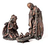 Evergreen 3-Piece Bronze Finish Mary, Joseph and Baby Jesus Outdoor Safe Garden Nativity Set