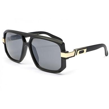 Grosses lunettes soleil Noir dore Mak - Mixte 03ffxosPNL
