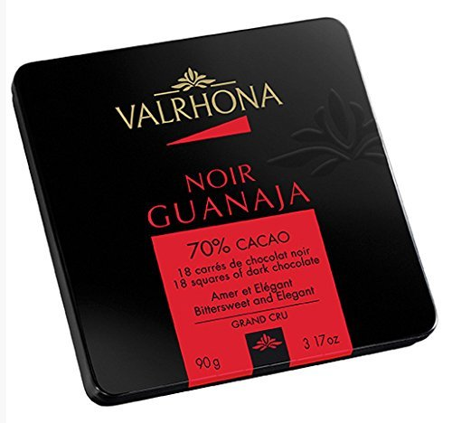 Valrhona 18 French Gourmet Chocolate Squares Guanaja, Dark chocolate 70% cocoa, 3.2oz (French Chocolate compare prices)