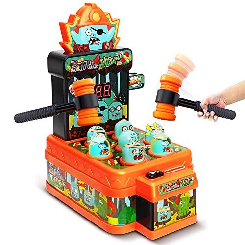 LUKAT Arcade Game Toys for 3 Year Old, Whack Mole, Mini Orange