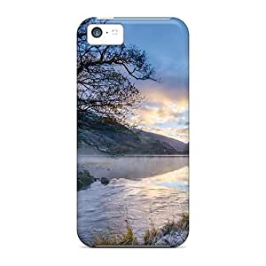 Protective Cases With Fashion Design For Iphone 5c (morning River And Tree)