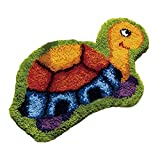 50x36cm DIY Latch Hook Rug Kit with Printed Canvas Instructions Yarn Crochet Hook for Kids Adults Style A