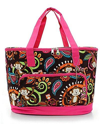 Island Monkey Paisley Print Insulated Cooler Shoulder Bag (HOT (Pink Paisley Monkey)