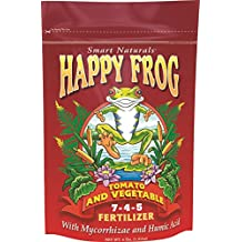 FoxFarm  FF50032 Happy Frog Tomato & Vegetable Fertilizer 7-4-5,  4# Bag