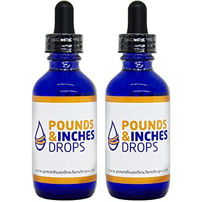 Pounds and Inches Drops Two 2 Ounce Diet Drops Bottles. Contains 2 Weight Loss Drops and Rapid Weight Loss Guide and Weight Tracker