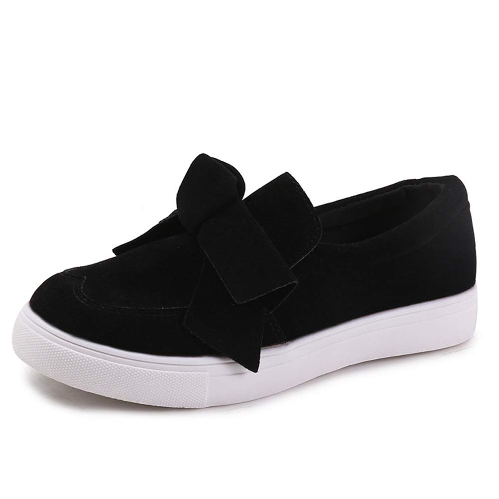 f503a7eab Poplover Women's Slip-on Loafers Bow Knot Faux Suede Flat Shoses Causal  Sneaker: Amazon.co.uk: Shoes & Bags