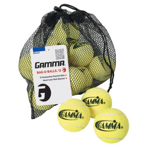 Gamma Pressureless Practice Balls (Gamma Bag O Tennis Balls, 12 Ball)