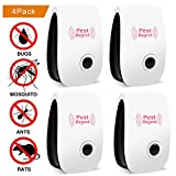 Ultrasonic Pest Repellent,IEKA 4 Pack Electronic Control Plug In Pest Repeller for Insects & Rodents Repellent for Mosquito, Mouse, Cockroaches ,Rats,Bug, Spider, Ant, Flies-Safe, non-toxic&efficient