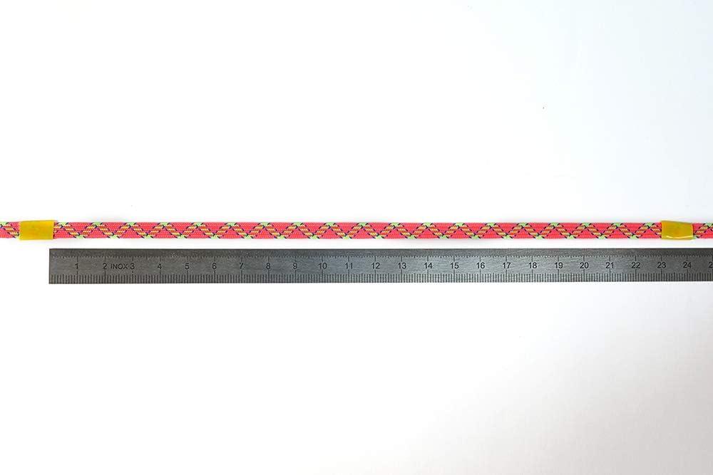 50 m Matsa Cinta Fluor Lineas 6,5mm-50Metros Trenza El/ástica Color Coral//Pistacho