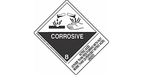Gc Labels L303p3253 Nitric Acid Other Than Red Fuming With Not