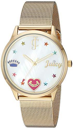 (Juicy Couture Black Label Women's  Gold-Tone Mesh Bracelet Watch)