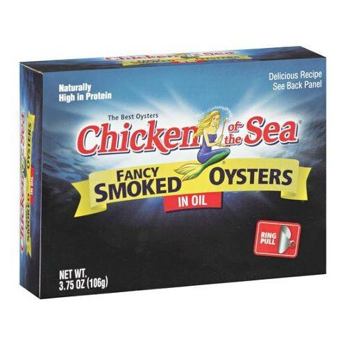Chicken Of The Sea Smoked Oyster In Oil, 3.75 Ounce -- 18 cans per case. by Chicken of the ()