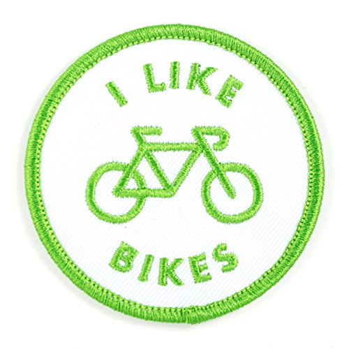 These Are Things I Like Bikes Embroidered Iron On or Sew On Patch