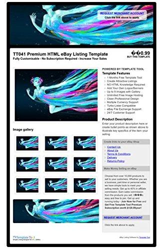 TT041 Premium HTML eBay Listing Template, Professional Auction ...